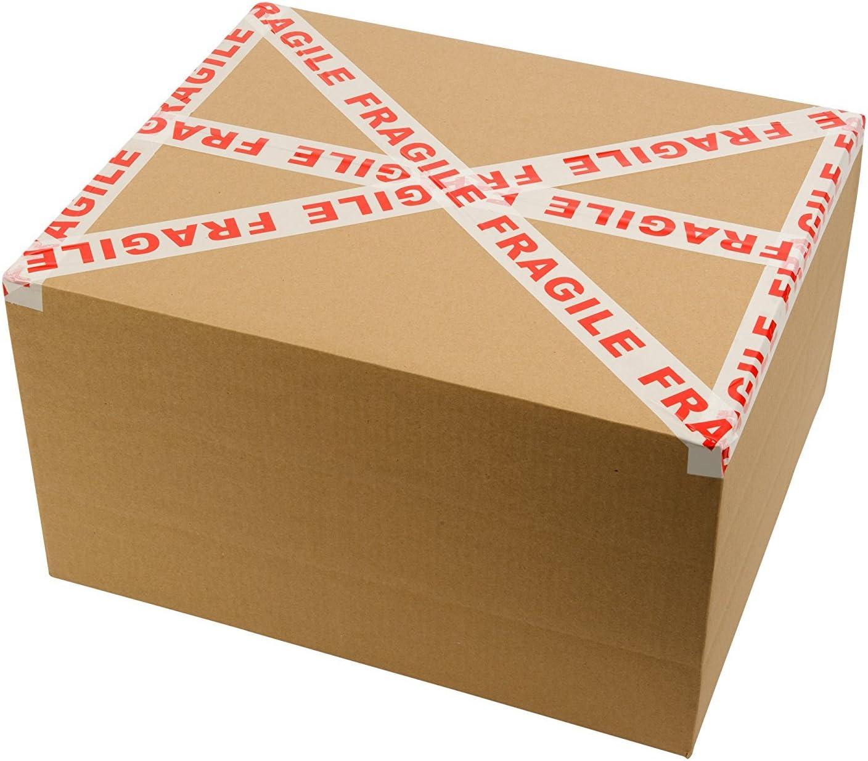 66m lang /& 48mm breit Packatape Vorsicht Glas Paketband Verpackungsmaterial /& Achtung Packband Vorsicht 12 Rollen Ideal als Glas Klebeband zerbrechlich Fragile Paketklebeband