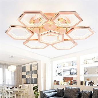 Fesselnd Larsure Vintage Modern Deckenleuchten Stilvolle Rose Gold LED Deckenleuchte  Leuchten Wohnzimmer Schlafzimmer Aus Acryl Licht Lichter