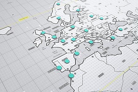 Mapnético Mapa del Mundo magnético de diseño con imanes ...