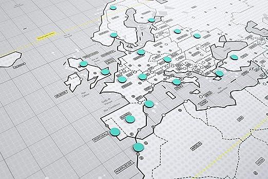 Mapnético Mapa del Mundo magnético de diseño con imanes. Señala Tus Viajes por el Mundo. 121×60 cm: Amazon.es: Hogar