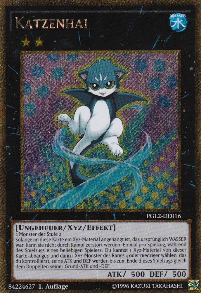 PGL2-DE016 - Katzenhai - Gold Secret Rare - Yu-Gi-Oh - Deutsch - 1. Auflage