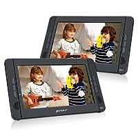 Pumpkin Lettore dvd bambini auto poggiatesta doppio schermo da 10.1pollici,regione free, lettore usb/sd carta/mmc, supporta av-in/out