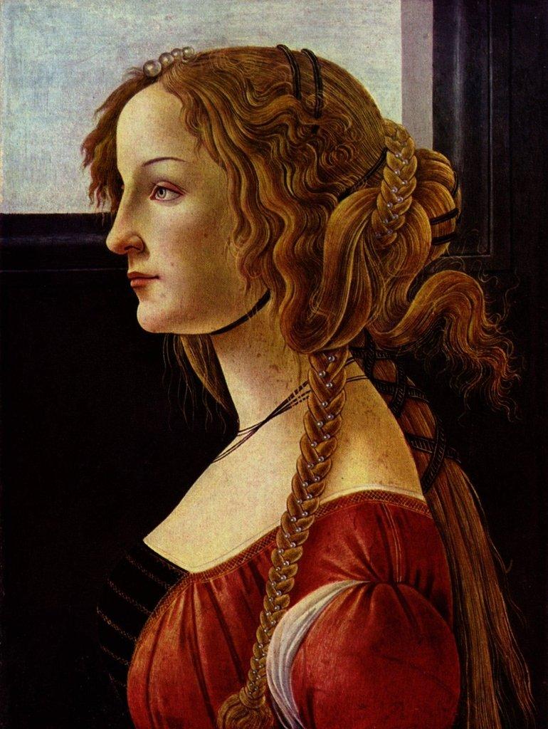 Lais Puzzle Sandro Botticelli - Porträt der Simonetta Vespucci 2000 Teile
