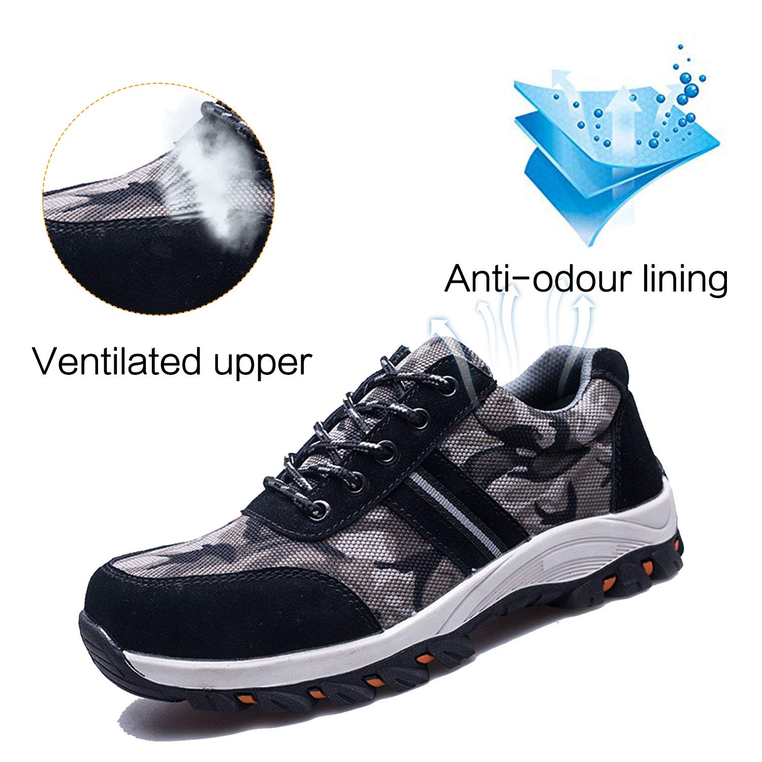 Back To Search Resultsshoes Qualified Modyf Mens Steel Toe Work Safety Shoes Breathable Lightweight Anti-smashing Non-slip Reflective Casual Sneaker