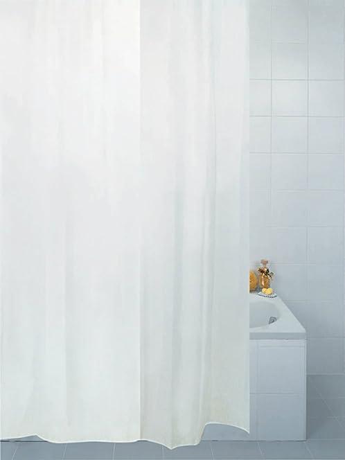 Plain White Fabric Shower Curtain 180 x 210 cm: Amazon.co.uk ...