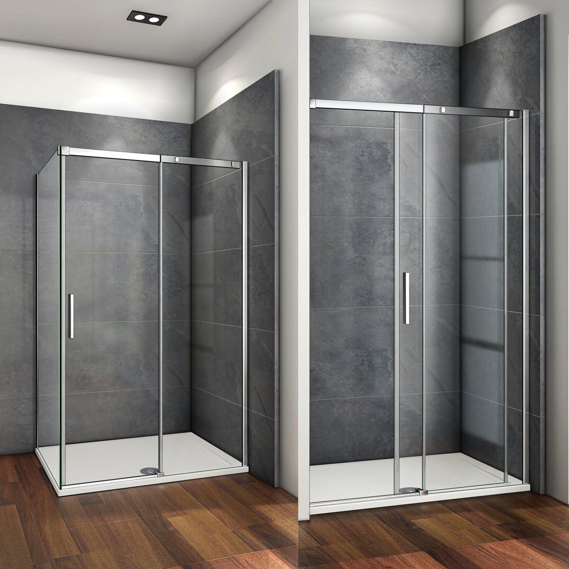 125x195cm Mamparas de ducha puerta de ducha 6mm vidrio templado de Aica