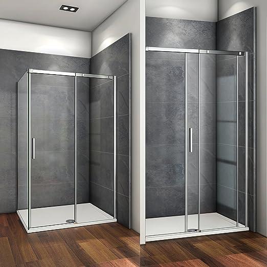 125x195cm Mamparas de ducha puerta de ducha 6mm vidrio templado de ...