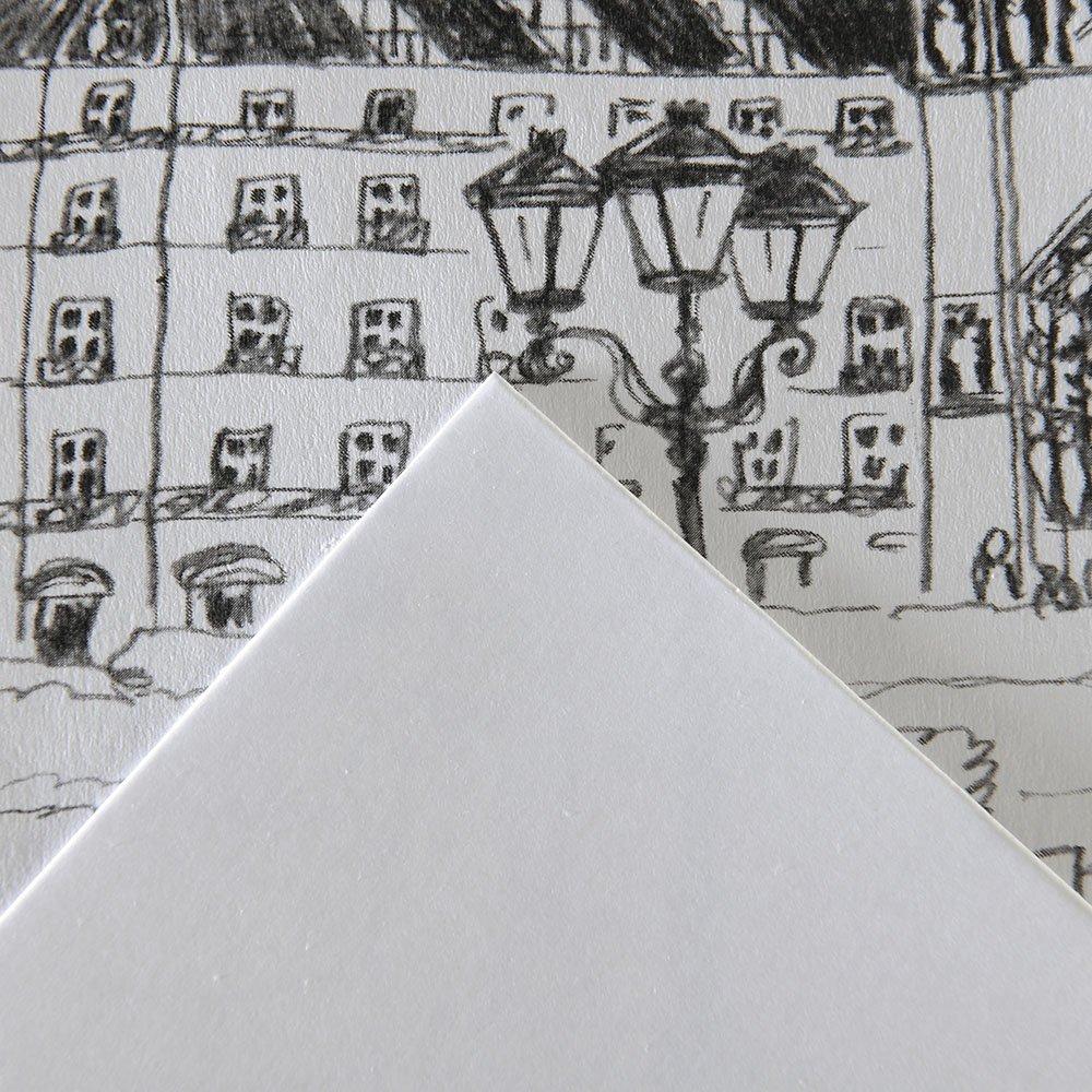 Canson 200457120 Bristol Zeichenkarton, A4, hochweiß hochweiß