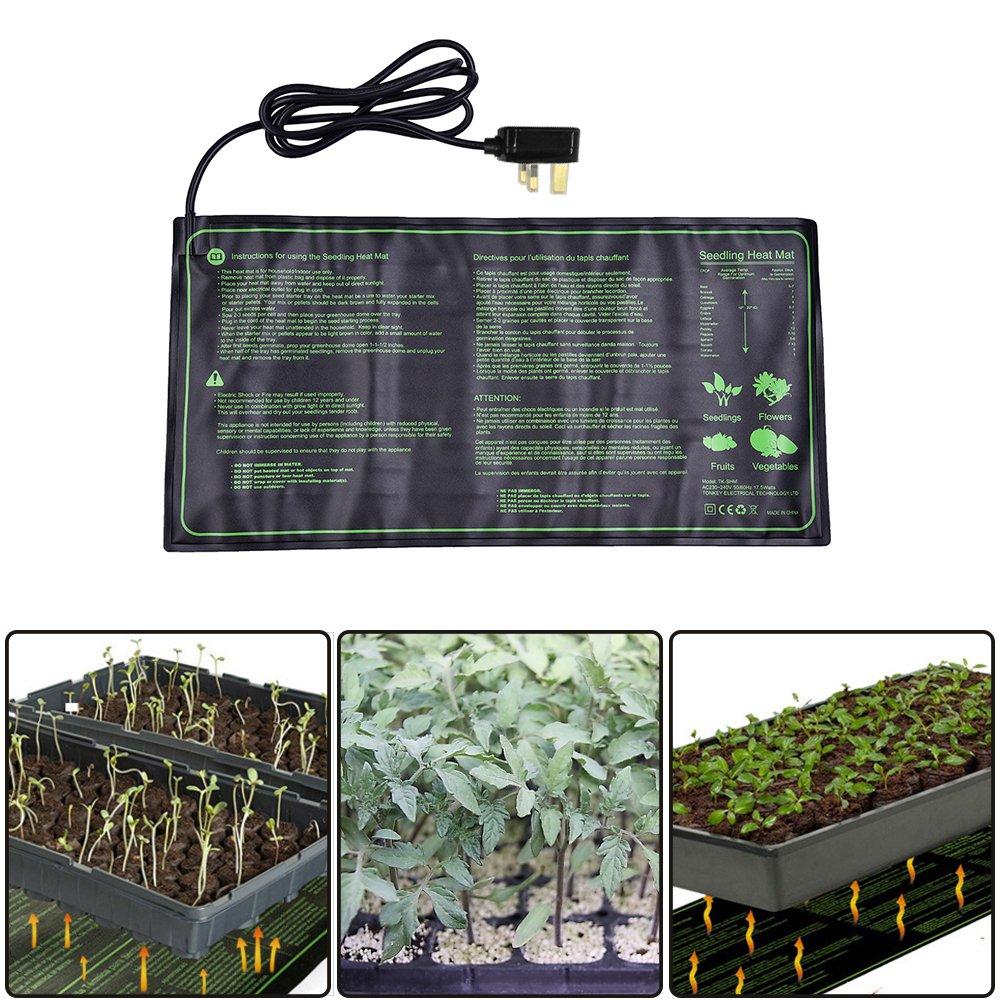 fastar Seedling Heat Mat, 18W IP67 Waterproof Hydroponic Seedling Plant Mat Warm Hydroponic Heating Pad for Indoor Outdoor Seeding Germination,10