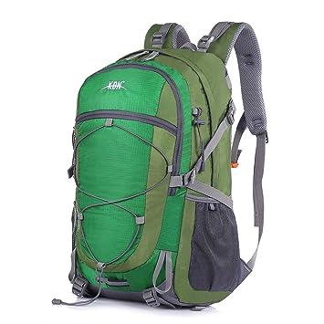Mooedcoe 40L Mochila Senderismo Montaña Trekking Macutos de Viaje Acampada Marcha (Verde): Amazon.es: Deportes y aire libre