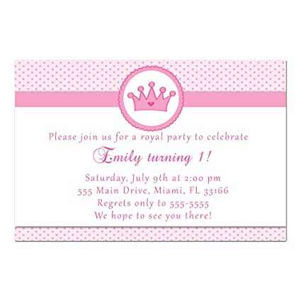 amazon com 30 invitations princess pink polka dots invite girl