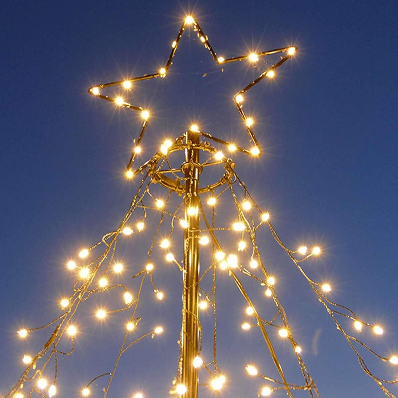 LED-Weihnachtsbaum 250 cm mit Stern beleuchtet mit 820 Micro-LED warmwei/ß f/ür den Garten au/ßen