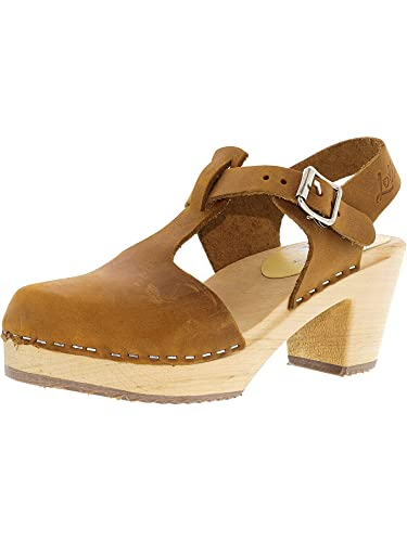 ec2f7ad85ae49 Lotta From Stockholm Women's Highwood T-Bar Oiled Nubuck Ankle-High Clogs