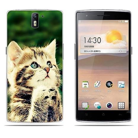 Funda Para OnePlus One, DIKAS Silicona Funda Slim Fit Gel Transparente Carcasa Case Bumper de Impactos y Anti-Arañazos Espalda Cover para OnePlus One- ...