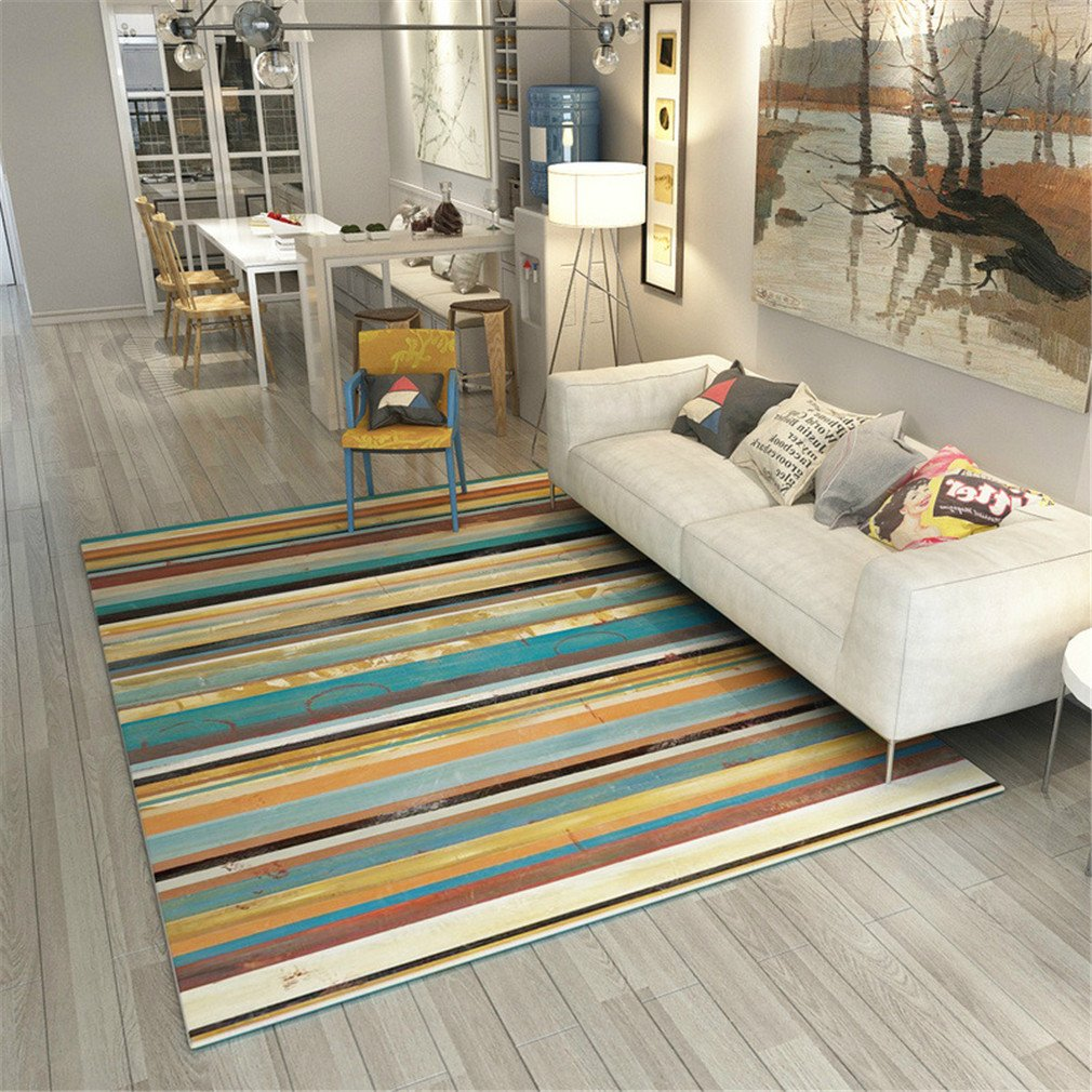 MIRUIKE Soft Non-Slip Indoor Area Rugs Polyester Fiber Carpet for Bedroom Living Room Environmental Protection