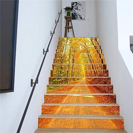 TZQT Etiquetas Engomadas De Las Escaleras Decoración Casera De Navidad 3D Autoadhesivas Pegatinas De Pared Desmontables,A-18cm*100cm: Amazon.es: Hogar