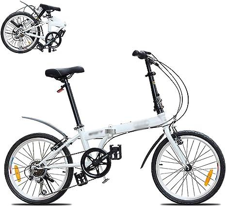 STRTG Bicicleta Plegable, Bikes Plegado Urbana,Marco De Acero De Alto Carbono Micro Bike,Sillin Confort,20 Pulgadas 6 velocidades Plegable Bicicleta Folding Bike Bicicleta: Amazon.es: Deportes y aire libre