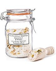 Clovelly Soap | Sales de baño de Toronja y Aceite de flores de naranjo | Frasco