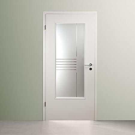 Puerta de cristal interior, puerta interior acristalamiento, LAR968-S, (vidrio opalino) Satinato con cristal esmerilado, 535 x 1420 mm, cristal Ornament 4 mm: Amazon.es: Bricolaje y herramientas