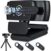 Webcam with Microphone for Desktop,1080P HD USB Webcam Live Streaming Laptop PC Computer Web Camera for Video Calling…