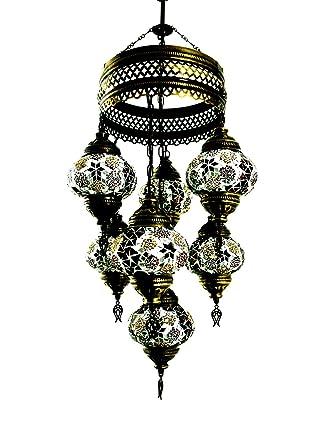 Marrakesch Turco hecha a mano mosaico cristal colgante ...