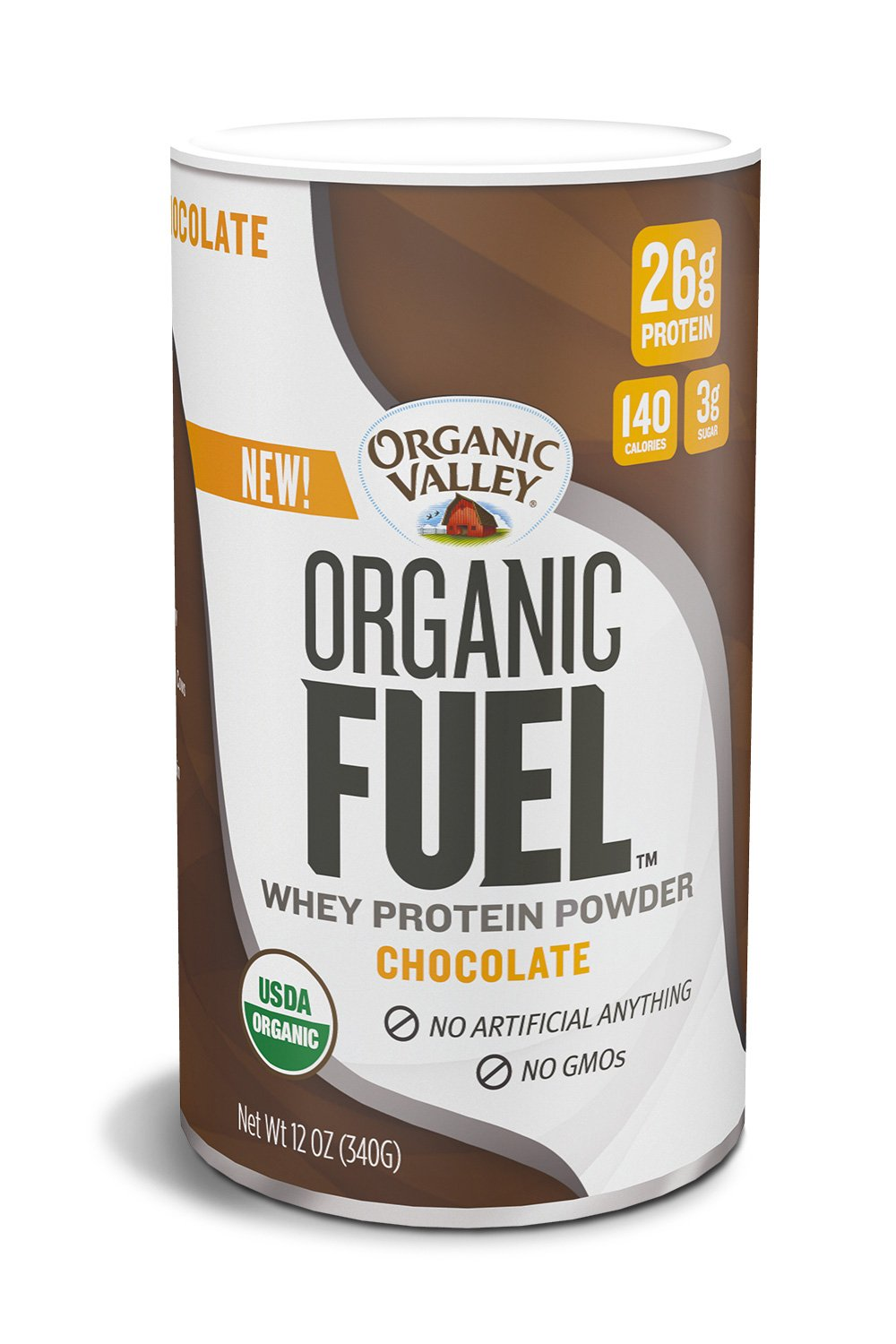Organic Valley Fuel Whey Protein Powder, Chocolate, 12 oz