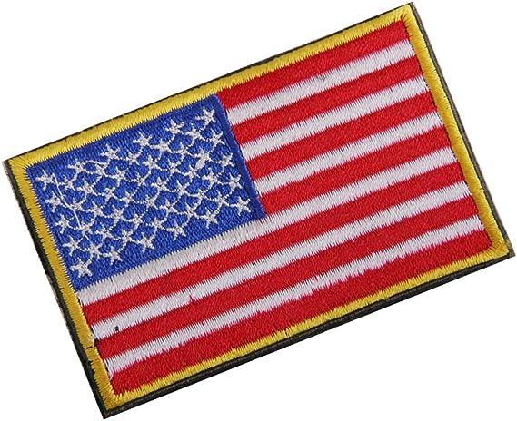EE.UU. Bandera Americana Gancho Bordado Táctico Placa De Sujeción De Bucle: Amazon.es: Hogar
