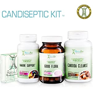 RelaxSlim Candida Albicans Treatment, Formulated by Award Winning Metabolism and Weight Loss Specialist- Full