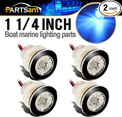 4x Marine Boat LED Courtesy Dome Interior Stair Step Plug Light White Waterproof