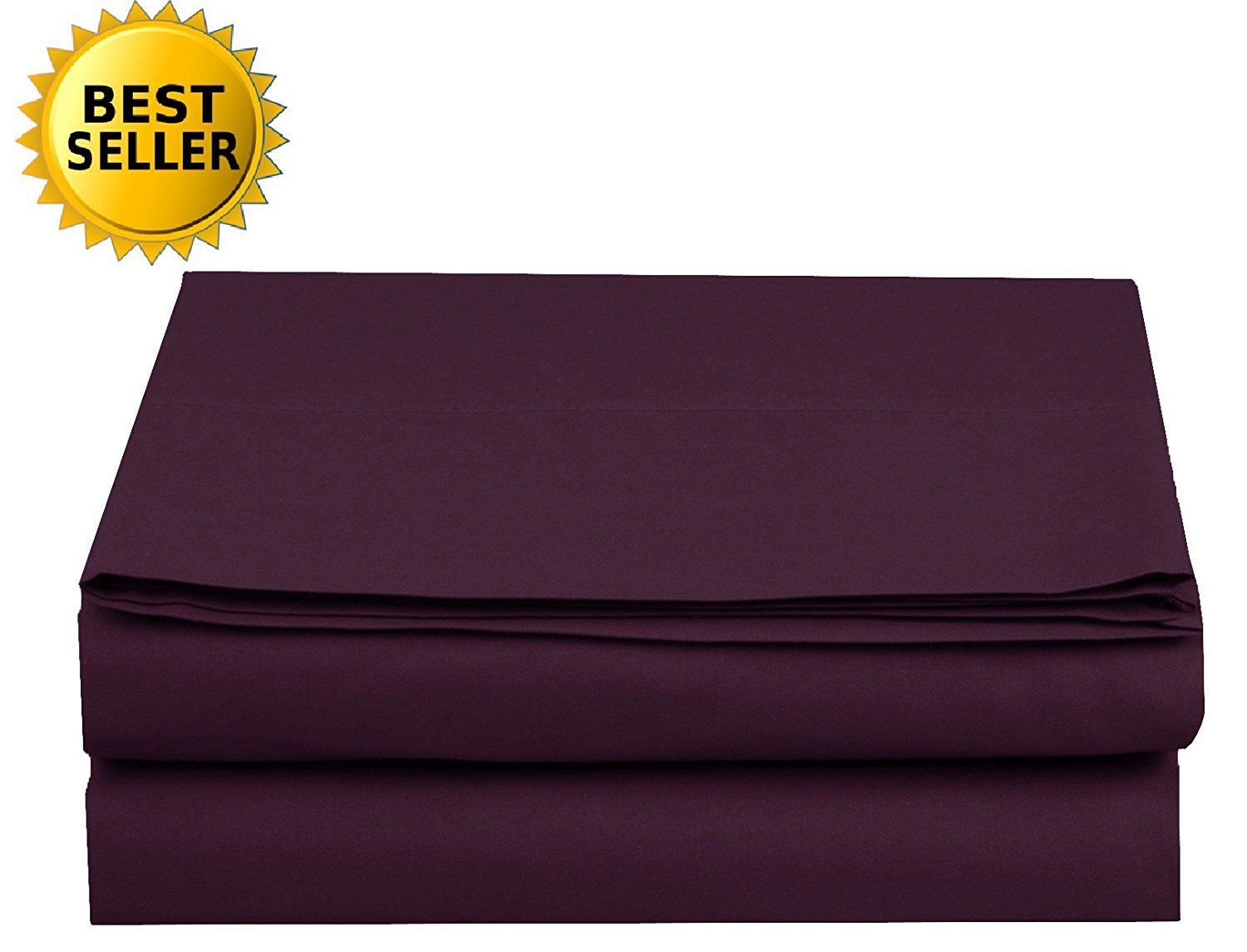 Luxury Fitted Sheet on Amazon Elegant Comfort Wrinkle-Free 1500 Thread Count Egyptian Quality 1-Piece Fitted Sheet, Twin/Twin XL Size, Purple
