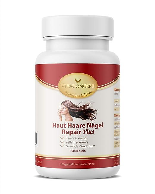 VITACONCEPT Haut Haare Nägel Repair Plus - 100 cápsulas para el crecimiento y la renovación celular