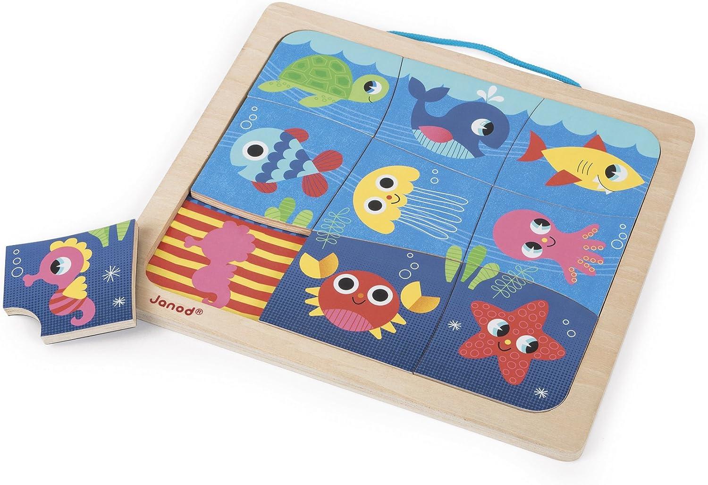 Janod Puzzle Magnético de madera, Happy Fish (J08181): Amazon.es: Juguetes y juegos
