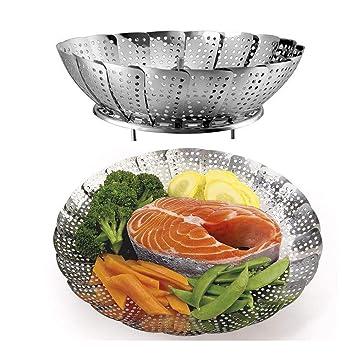Cocinar al vapor (cestas Set 2 tamaños (grande y estándar ...