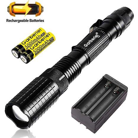 Amazon.com: Linterna LED súper brillante con batería y ...