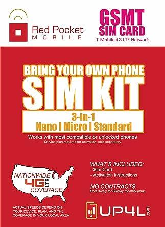 Amazon.com: Rojo Funda de bolsillo para GsMT tarjeta SIM kit ...