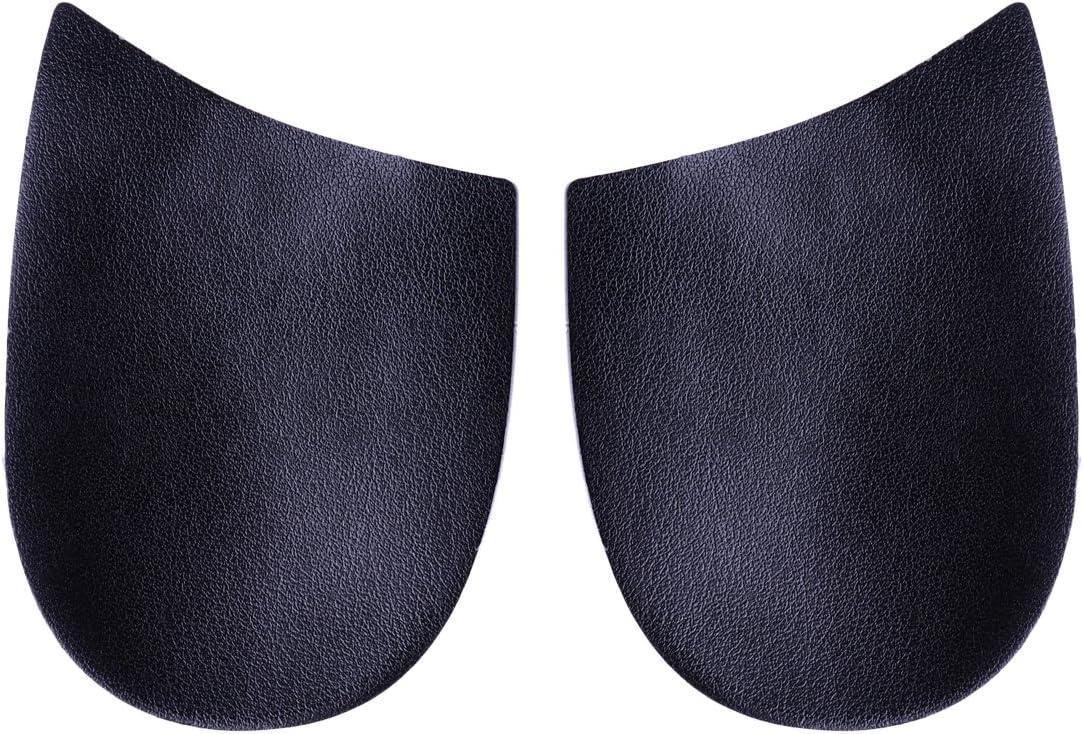 Healifty 1 par O/X tipo pierna apoyo ortopédico plantilla medial lateral talón cuña plantillas silicona corrector de piernas arco (negro y gris)