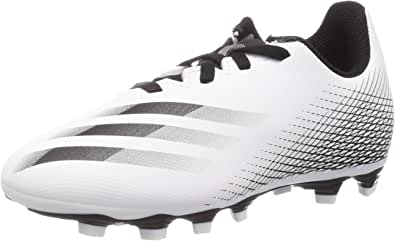 Adidas X Ghosted.4 FXG J Lace-Up Two-Tone Football Shoes for Boys - White and Black