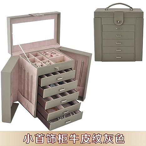 lzzfw Caja de regalo de Navidad Caja de regalo de cuero Armario de joyerÃa grande Caja