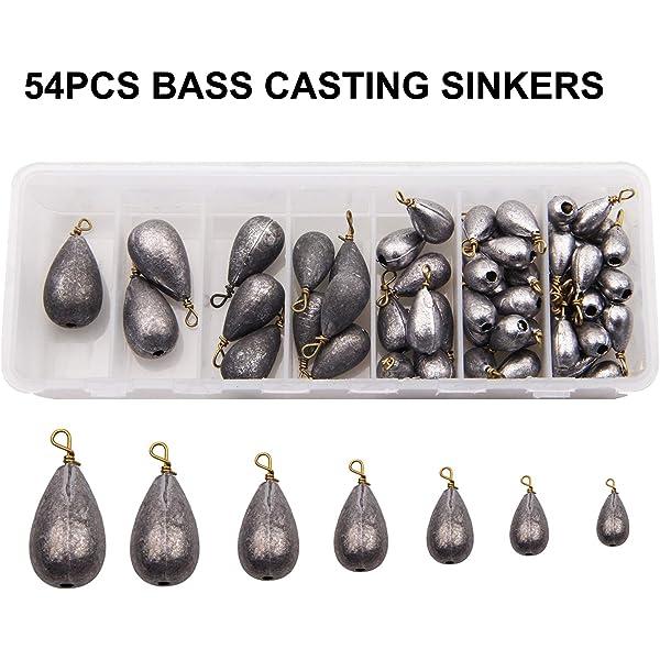 TearDrop Drop Shot Weights Pear Sinkers for Bass Fishing