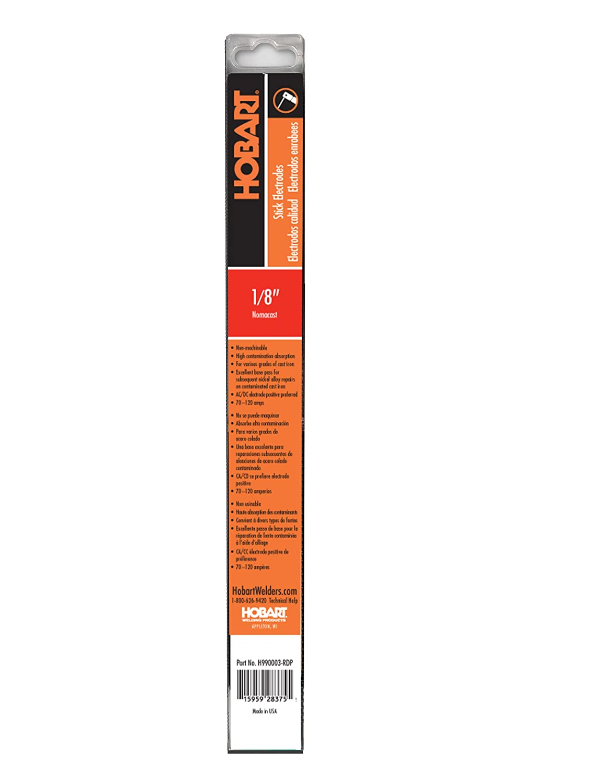 Hobart H990003-RDP 1/8-Inch 1-Pound Nomacast Electrodes