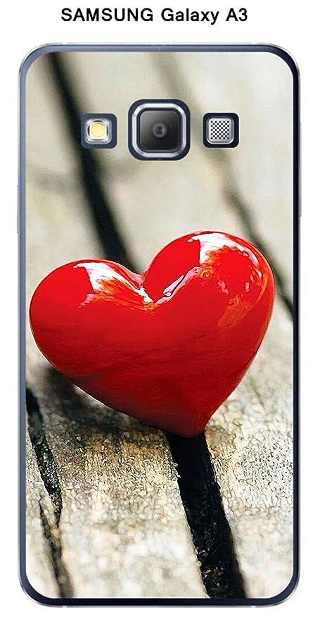 Carcasa Samsung Galaxy A3 diseño corazón sobre mesa: Amazon ...