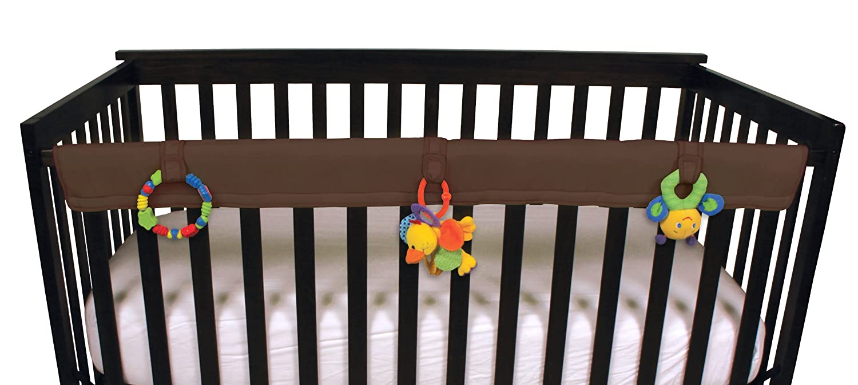 Leachco Easy Teether Soft & Padded Crib Rail Cover, Brown