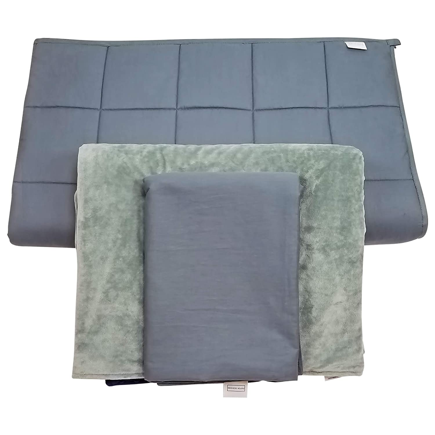 Papen Designs Adult Weighted Blanket with 2 Covers, 20lbs 60x80