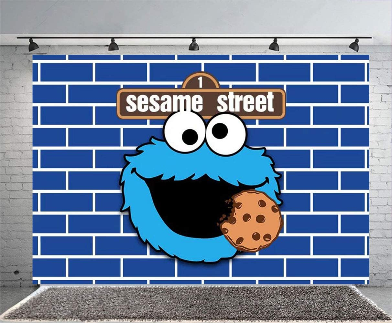 Backdrop Birthday Party Decoration Children Sesame Street Birthday ...