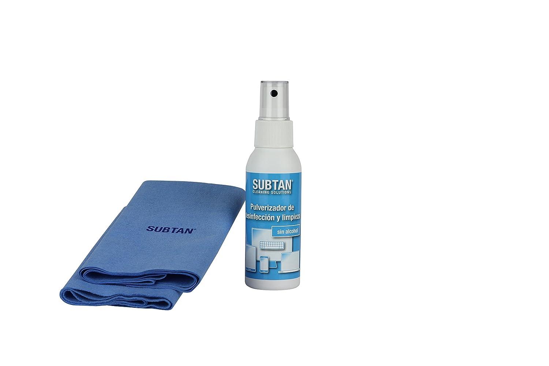 SUBTAN - Kit de desinfección y limpieza para smartphone, tablet, pantalla táctil, teclado y ratón (aerosol desinfectante y limpiador para dispositivos ...