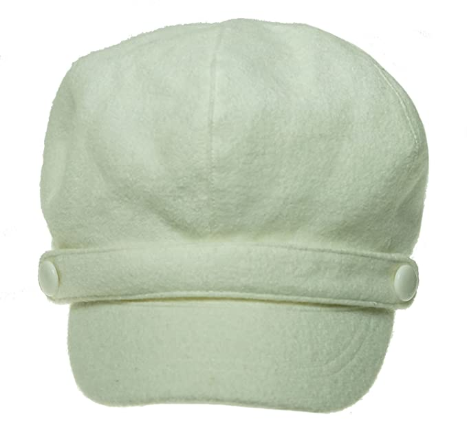 0cccd2ed015b6 Image Unavailable. Image not available for. Color  Nine West Women s Boucle  Buttons Newsboy Winter White Hat