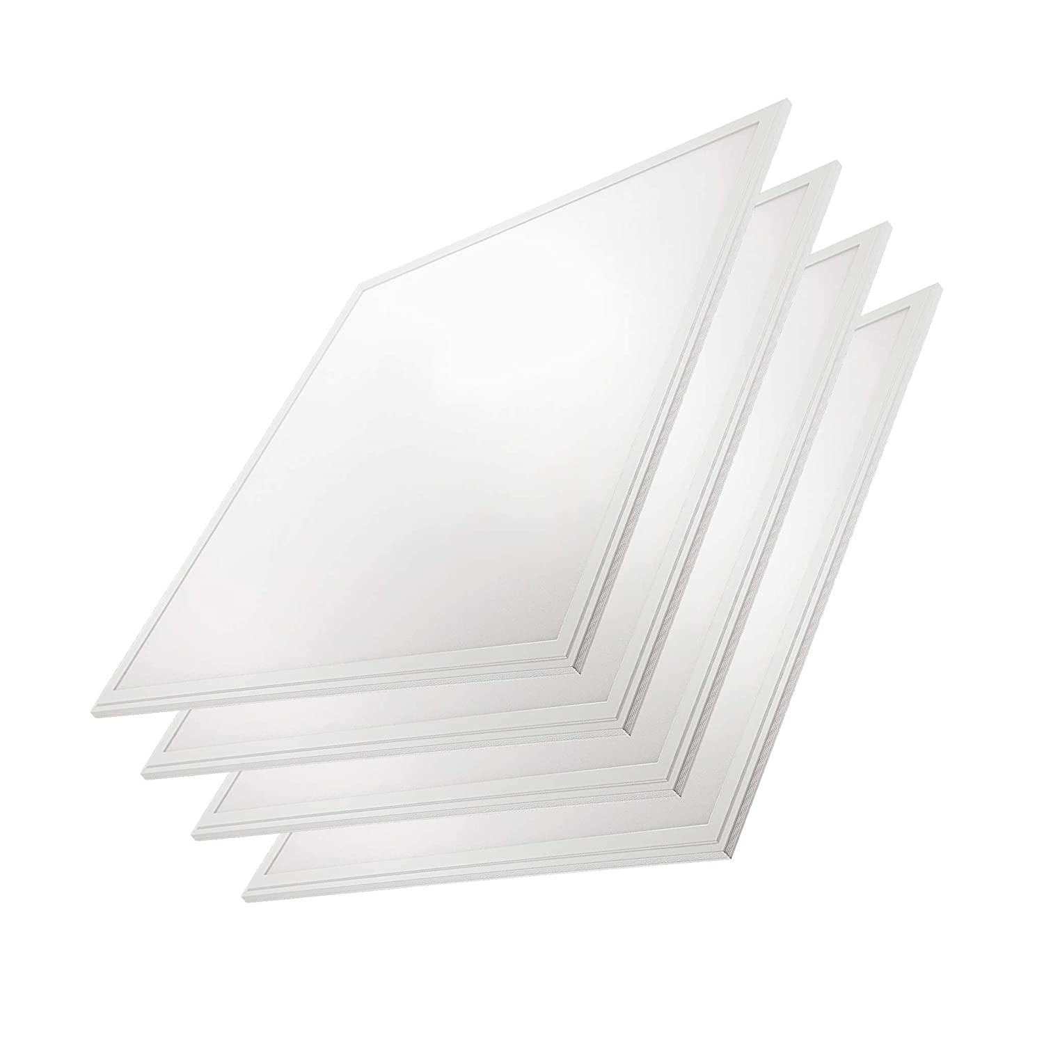 "2x2 Panel/Troffer Edge-Lit Panel (4 Pack) 10 YR Warranty; 24"" x 24"" 40W; 4,600 Lumens= 115lm/w 120V-277V; 0-10V Dimmable; UL/DLC Listed; Soft White 3000K"