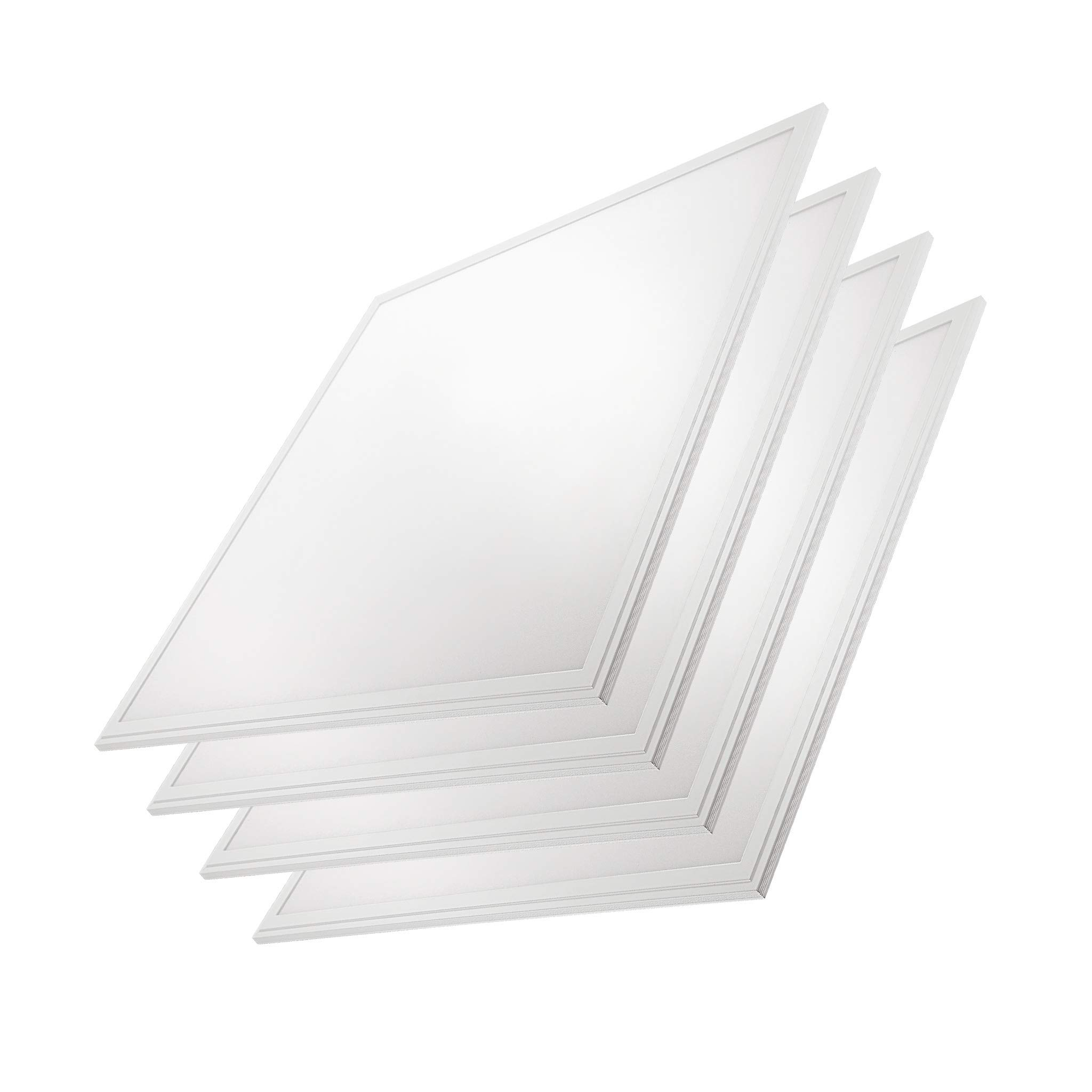 2x2 Panel Troffer Edge-Lit Panel (4 PACK) 10 Year Warranty; 24'' x 24'' 40W; 4,600 Lumens= 115lm/w 120V-277V; 0-10V Dimmable; UL/DLC Listed; Warm White 3500K