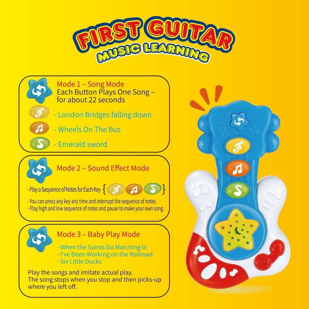 Amazon com : WEofferwhatYOUwant Portable First Guitar