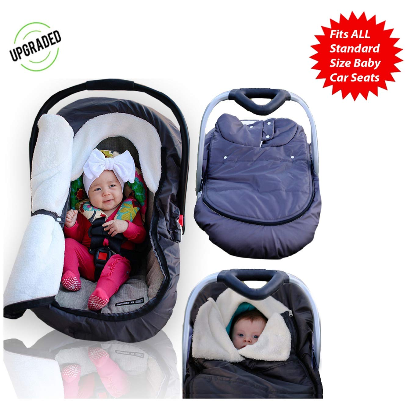 Strange Infant Baby Car Seat Cover Weatherproof Sneak A Peek Stroller Cover For Cold Winter Weather Amazingly Comfy Car Seat Cover With A Universal Fit Machost Co Dining Chair Design Ideas Machostcouk